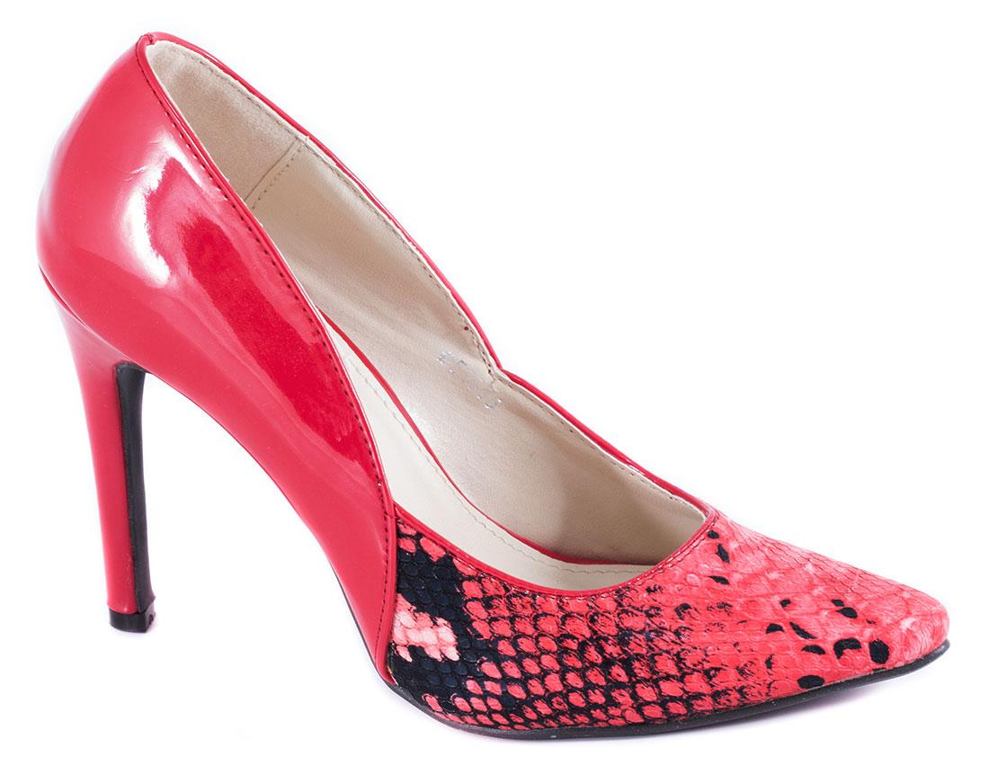 Pantofi dama rosii lac toc 10 cm Vyka