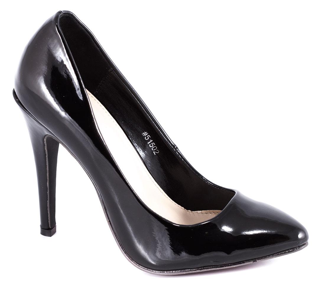 Pantofi dama negri lac stiletto toc 11 cm Annete