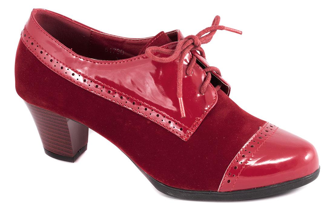 Pantofi dama rosii lac toc 6 cm Laura