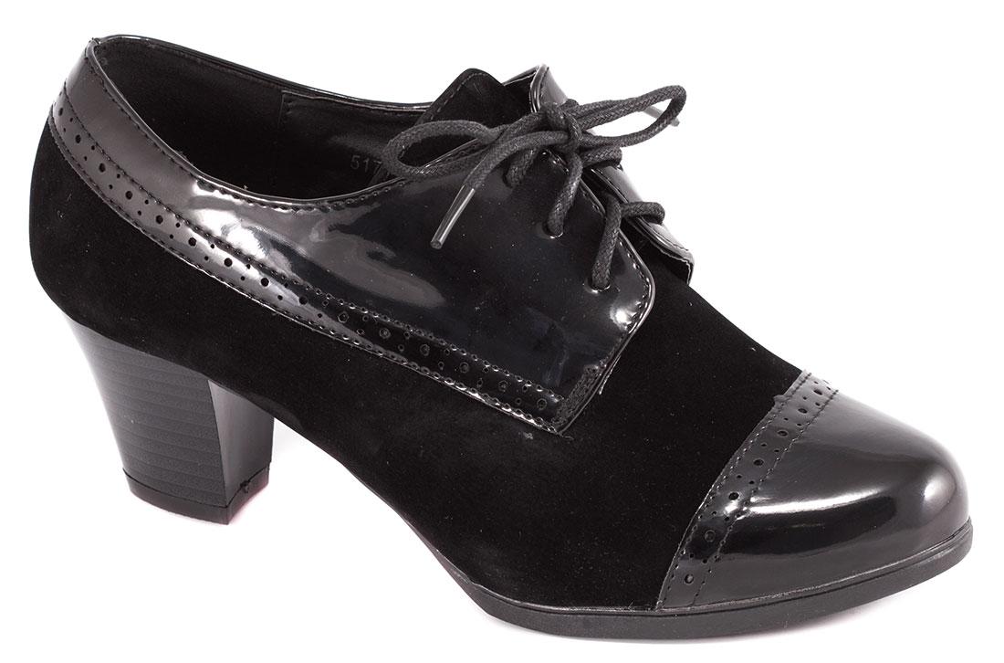 Pantofi dama negri lac toc 6 cm Laura