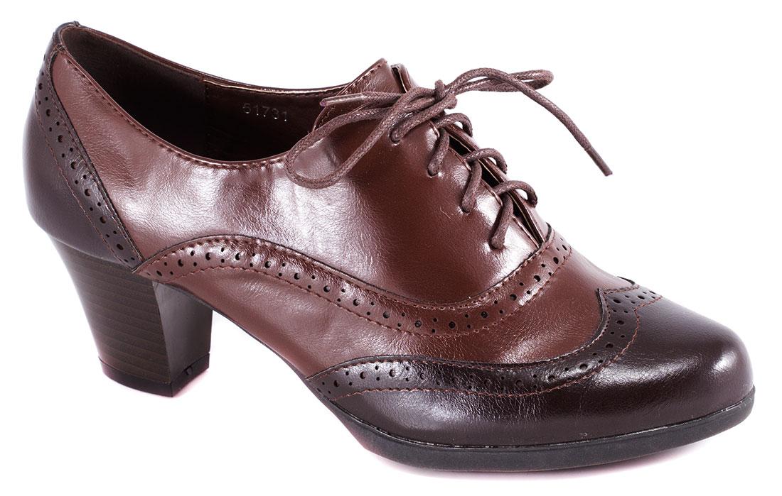 Pantofi dama maro toc 6 cm Lorena