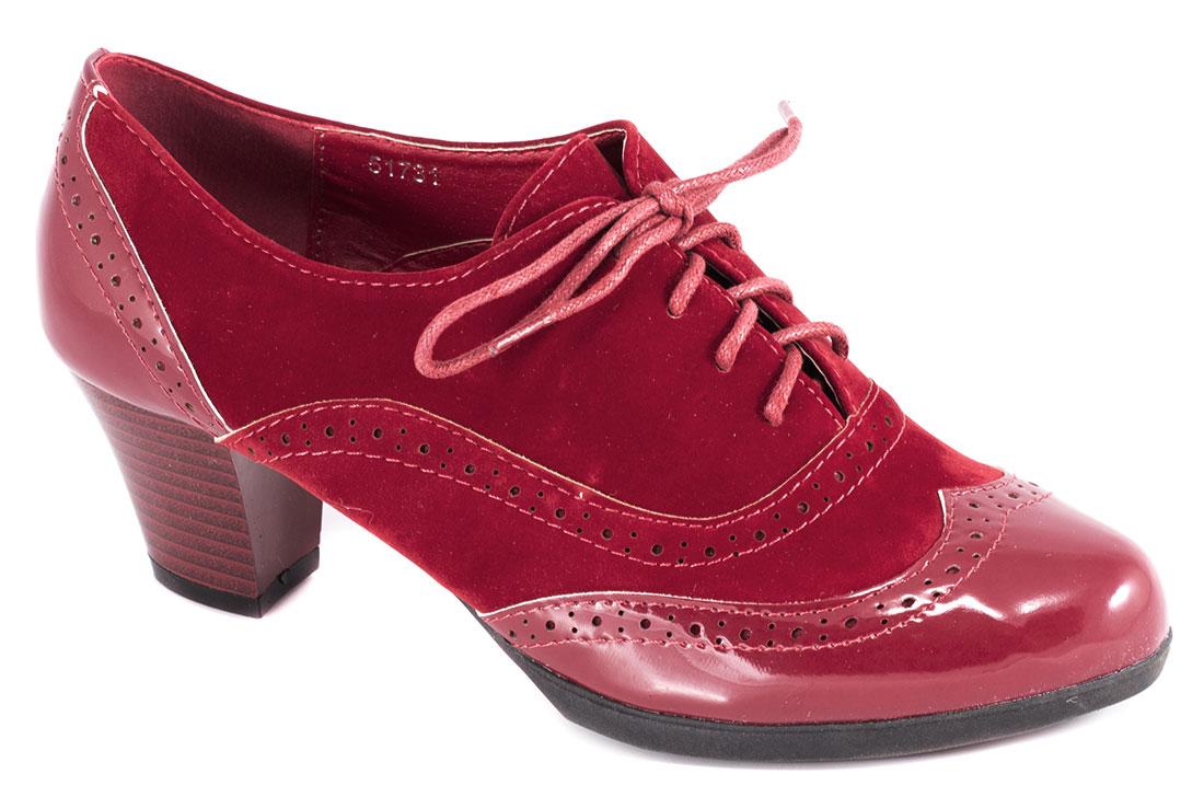 Pantofi dama rosii lac toc 6 cm Lorena