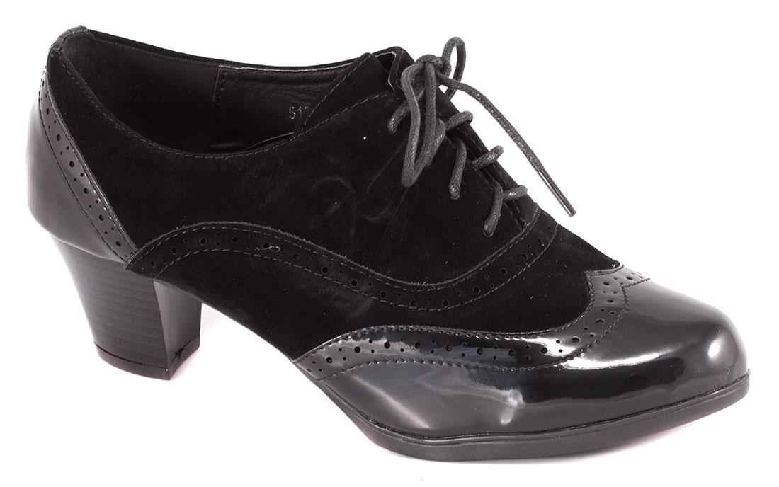 Pantofi dama negri lac toc 6 cm Lorena
