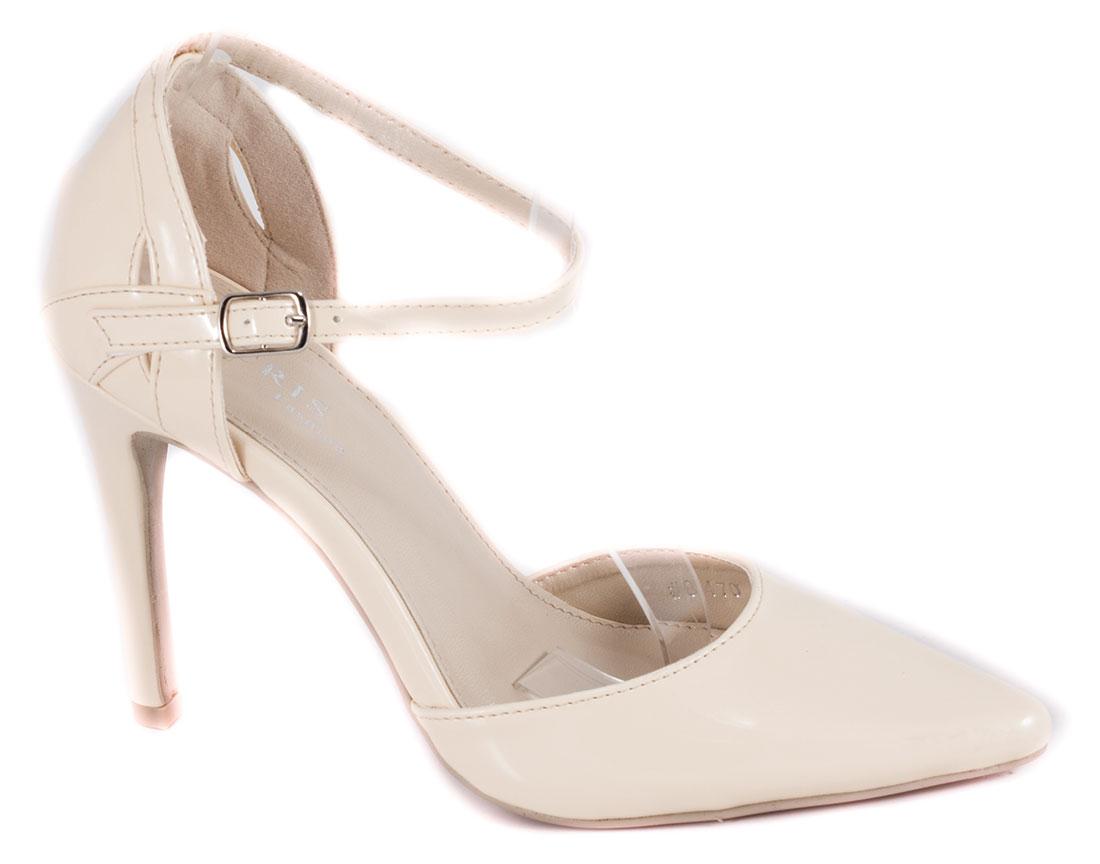 Pantofi dama bej toc 10 cm Florya
