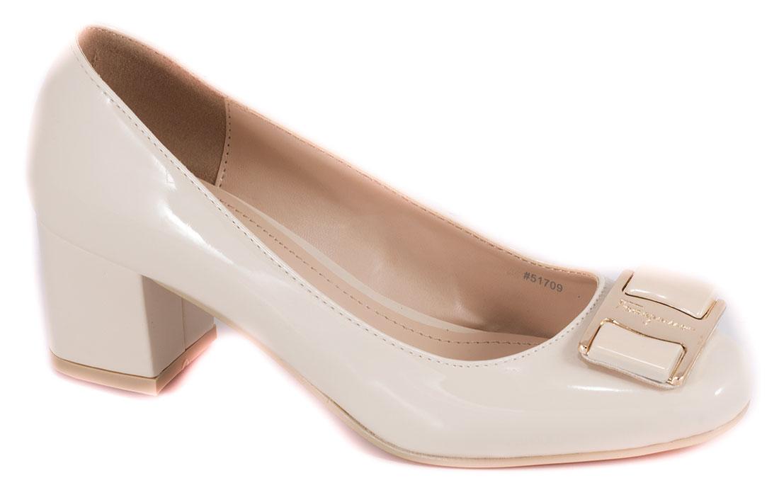 Pantofi dama bej cu toc 5 cm Lorre