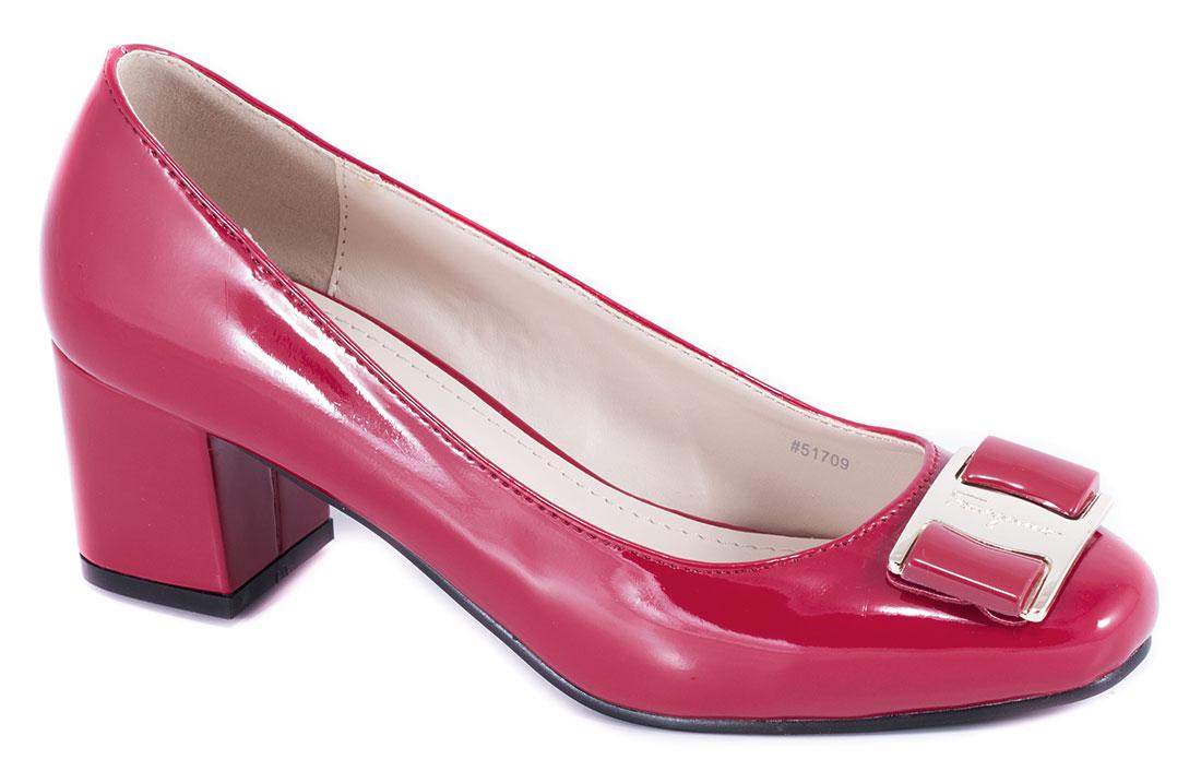Pantofi dama rosii cu toc 5 cm Lorre