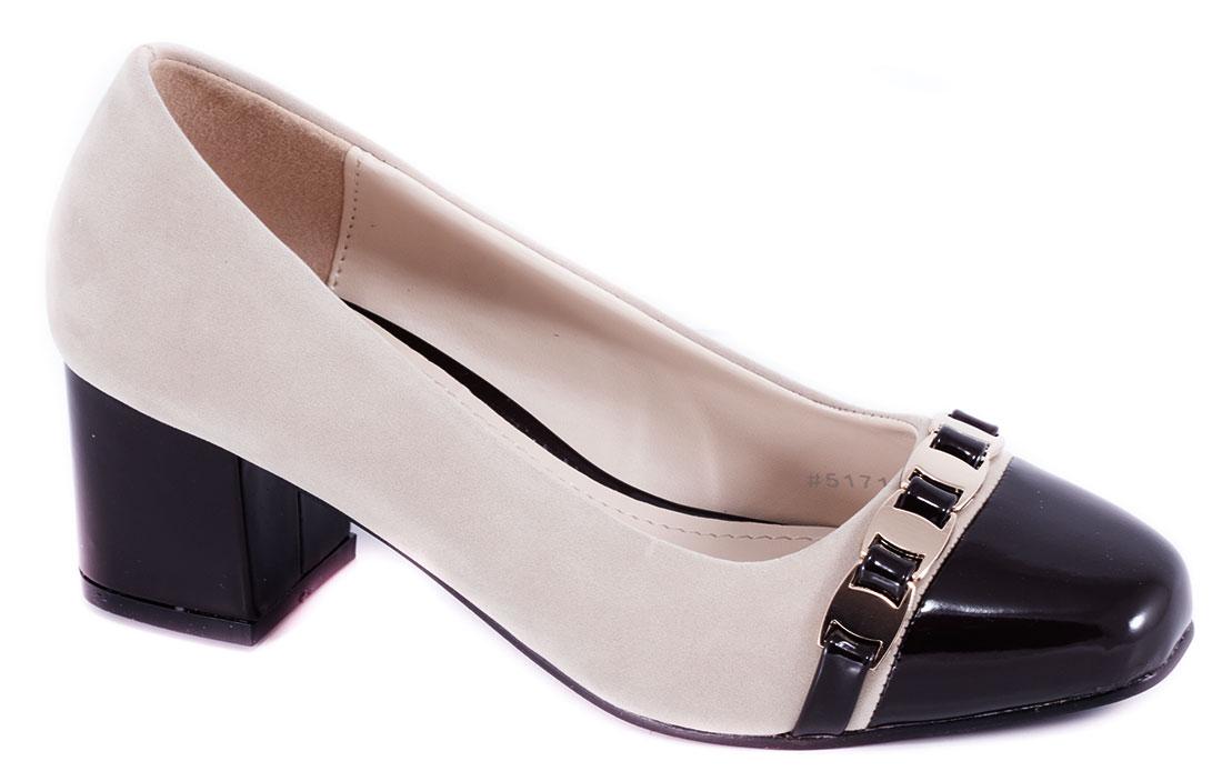 Pantofi dama gri cu toc de 5 cm Lanna