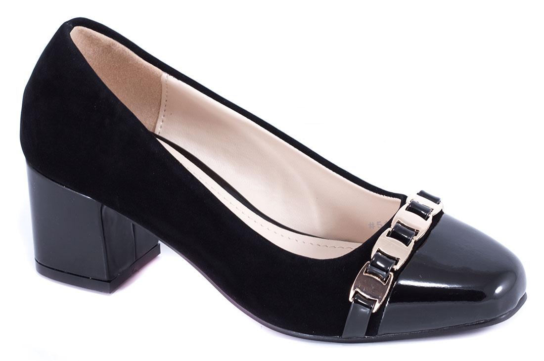 Pantofi dama negri cu toc de 5 cm Lanna