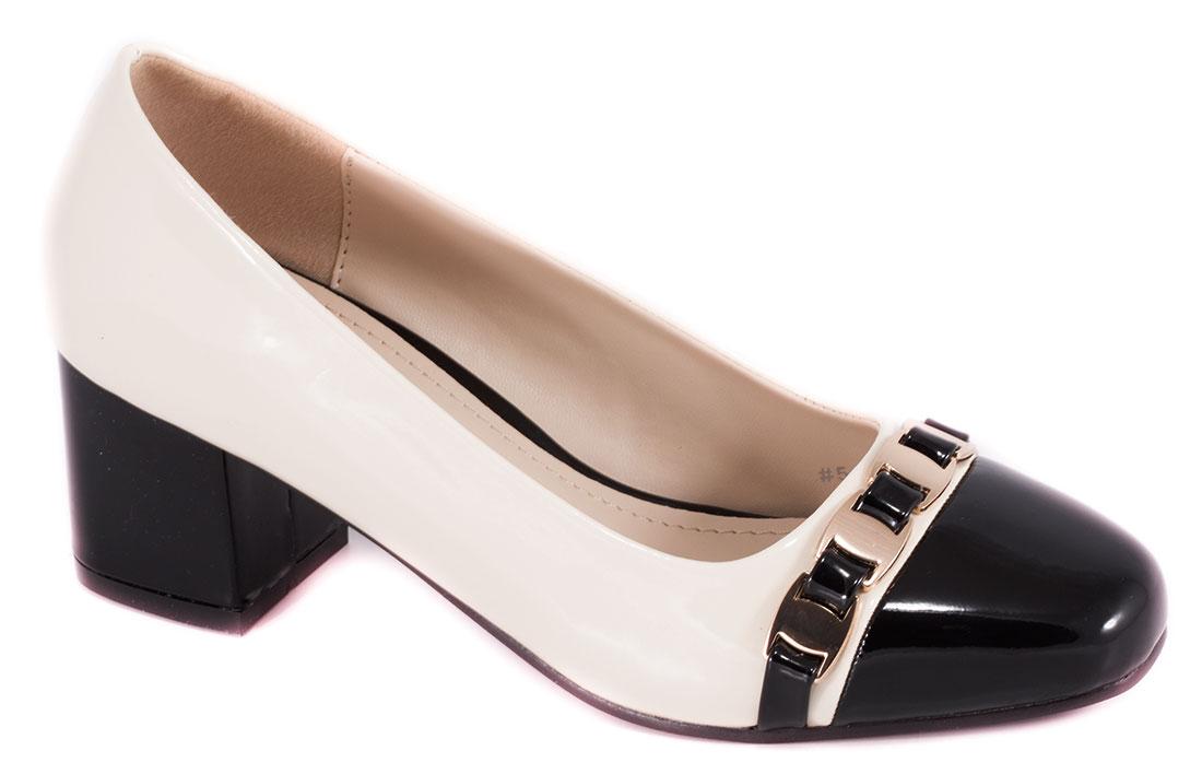 Pantofi dama bej cu toc de 5 cm Lanna