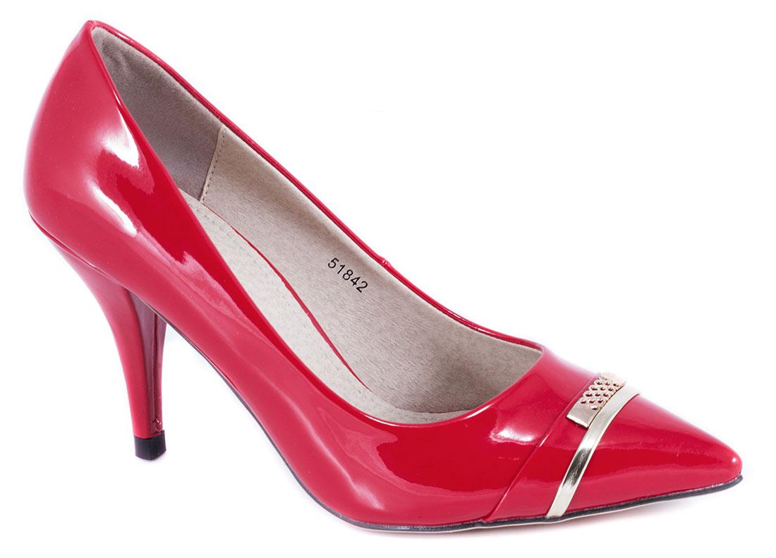 Pantofi dama rosii lac toc 9 cm Gynna