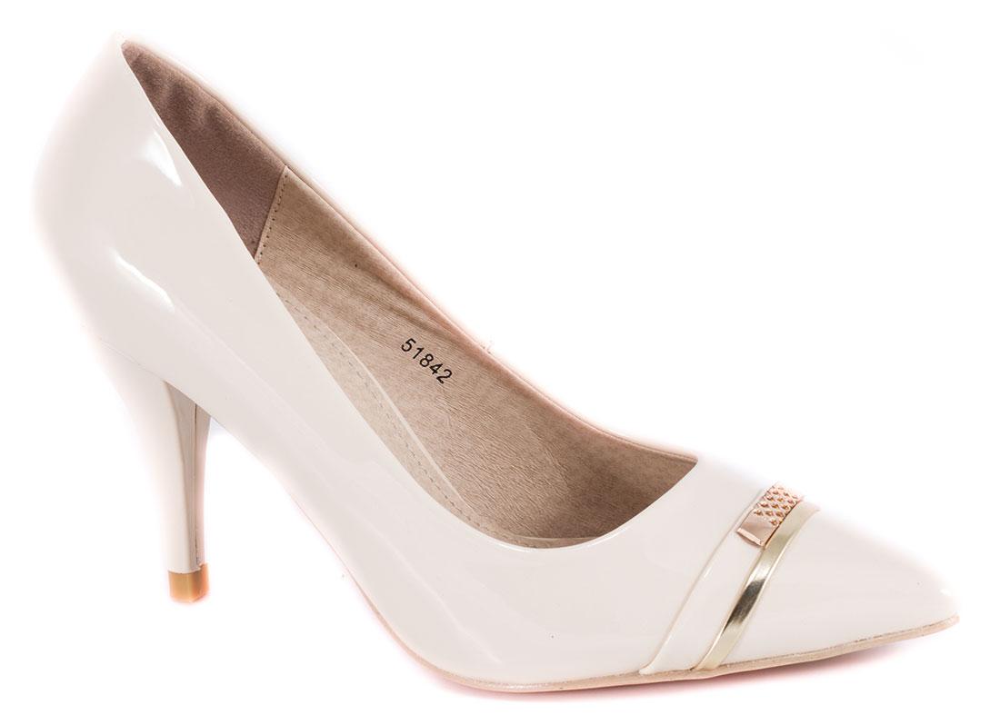 Pantofi dama bej nude lac toc 9 cm Gynna