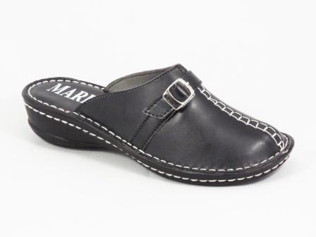 Papuci dama negri ortopedici toc 4 cm Marinna