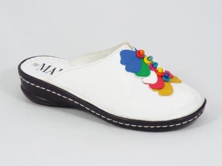 Papuci dama albi ortopedici toc 4 cm Marinna