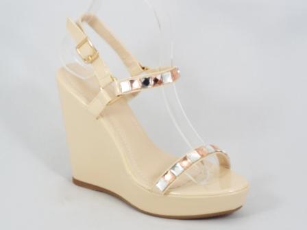Sandale dama bej ortopedice lac toc 11,5 cm Ronna