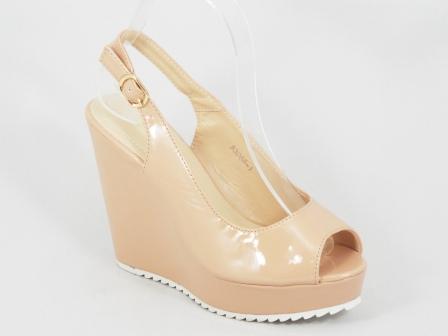 Sandale dama bej ortopedice lac toc 11,5 cm Inna