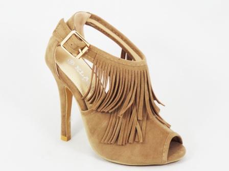 Sandale dama bej toc 10 cm Kenna
