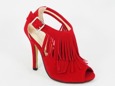 Sandale dama rosii toc 10 cm Kenna