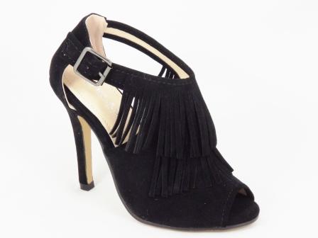 Sandale dama negre toc 10 cm Kenna