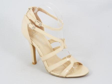Sandale dama bej lac toc 10,5 cm Letitia