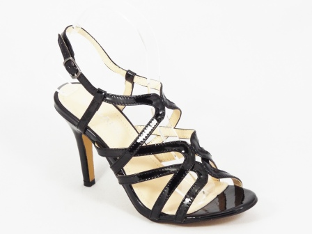 Sandale dama negre lac toc 10 cm Nety
