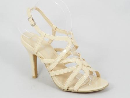 Sandale Dama Bej Lac Toc 10 Cm Nety