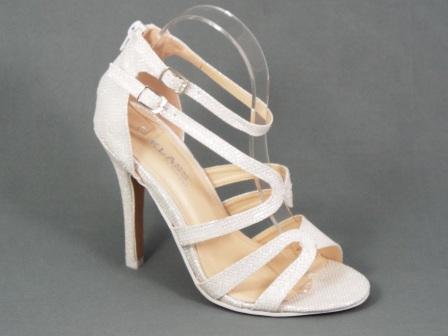 Sandale dama alb metalic toc 10,5 cm Letitia