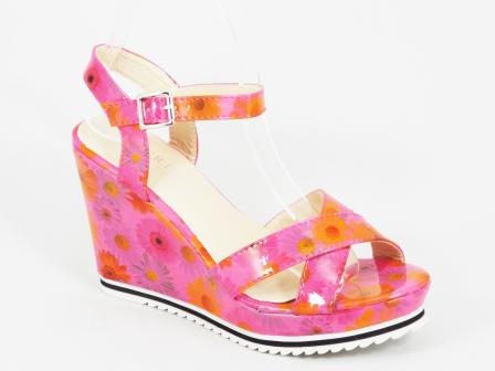 Sandale dama roz ortopedice toc 10 cm Ryta