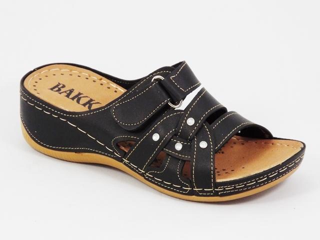 Papuci dama negri ortopedici toc 5 cm Lynda