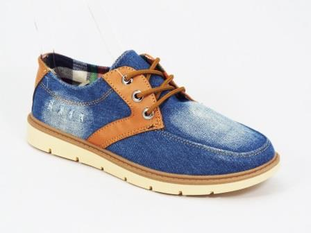 Pantofi barbati albastri jeans sport Danny