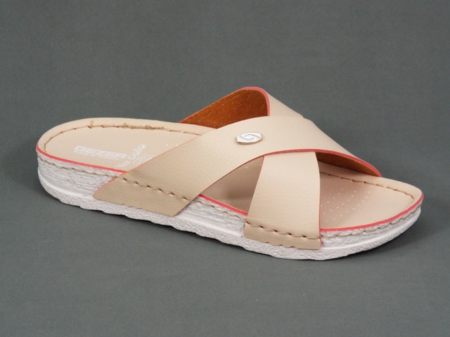 Papuci dama bej Synka
