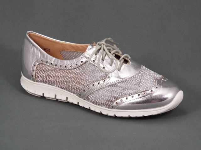 Pantofi dama sport argintii Monyka