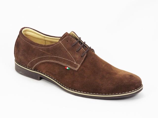Pantofi barbati maro piele intoarsa Gregory
