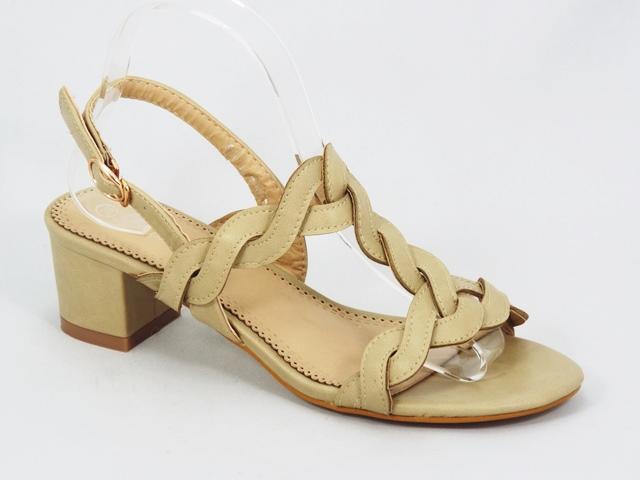 Sandale dama bej toc 5 cm Cleo