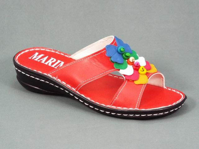 Papuci dama rosii ortopedici toc 4 cm Marinna