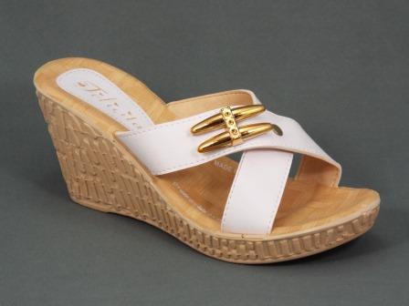 Papuci dama albi ortopedici toc 8 cm Eryka