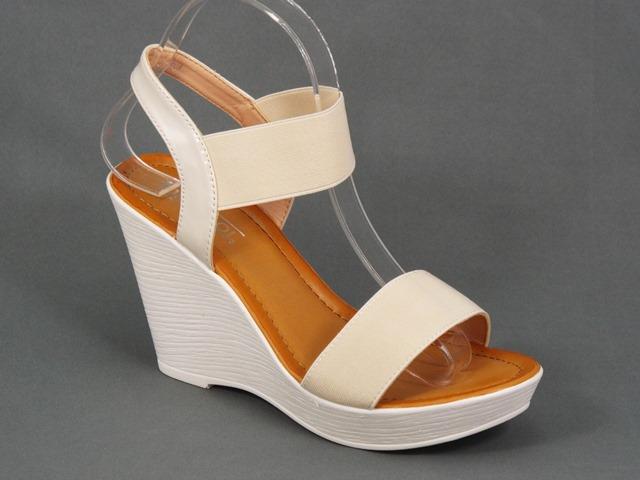 Sandale dama albe ortopedice toc 9,5 cm Doryna