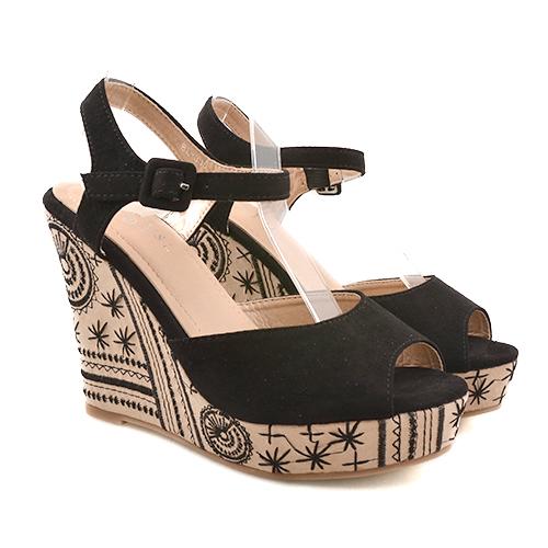 Sandale dama negre ortopedice toc 11,5 cm Lenna