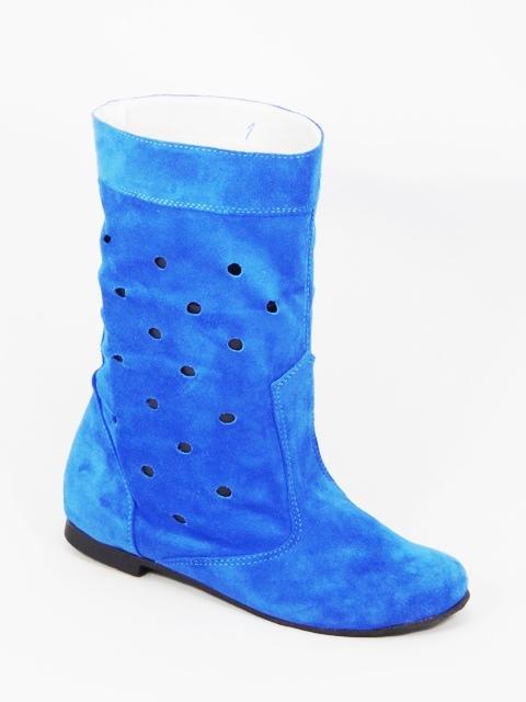 Cizme dama piele albastre Flory
