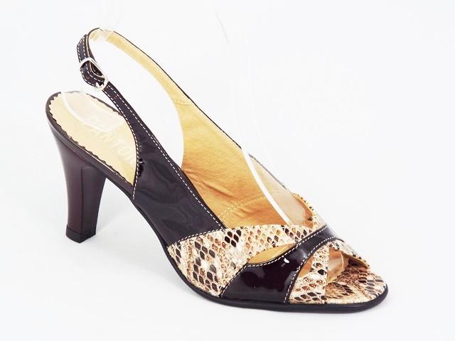 Sandale Dama Piele Maro Toc 8 Cm Myna
