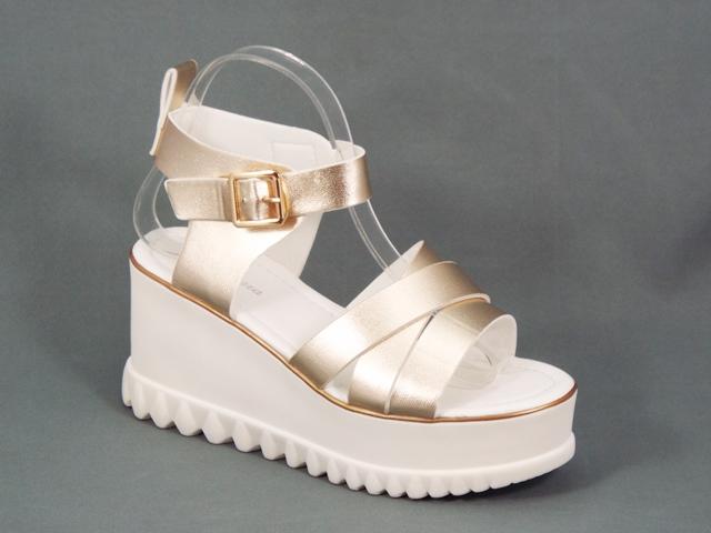 Sandale dama aurii platforma toc 8,5 Nelly