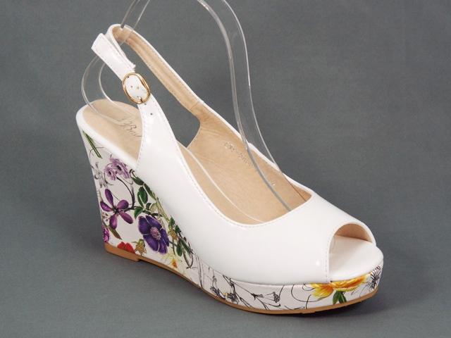 Sandale dama albe ortopedice toc 10 cm Lynna