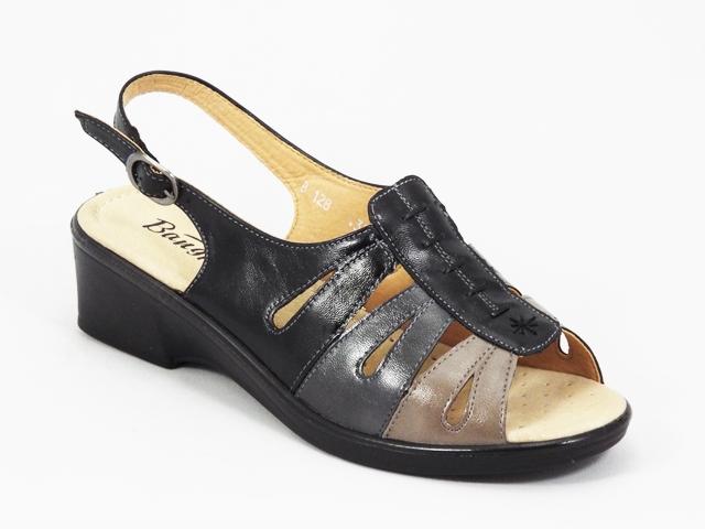 Sandale dama negre ortopedice toc 5 cm Daria