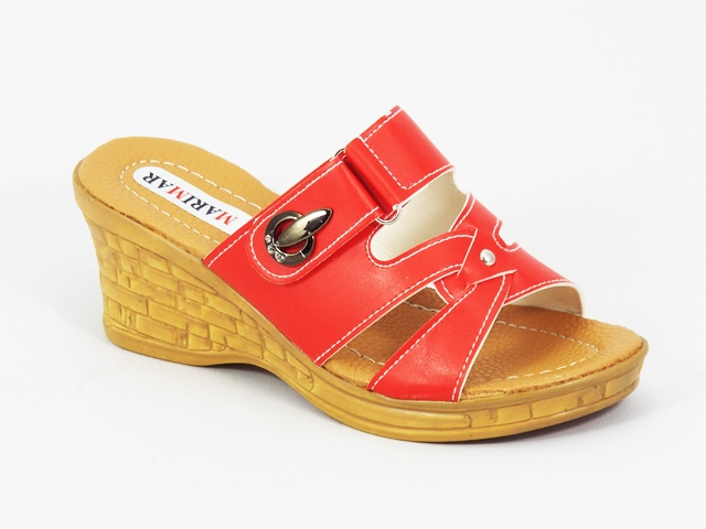 Papuci dama rosii ortopedici toc 7 cm Xonya