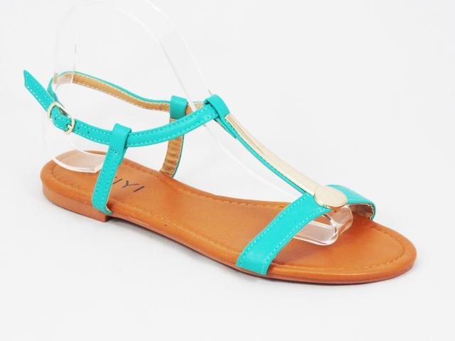 Sandale dama verde turcoaz Flory