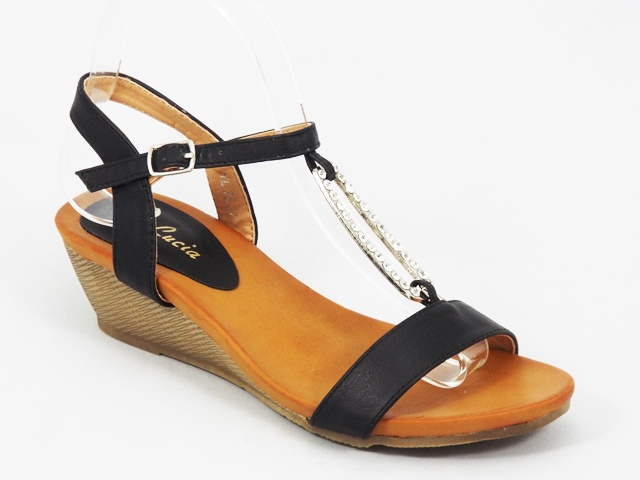 Sandale dama negre ortopedice Lina