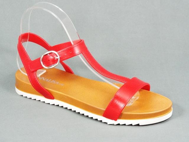 Sandale dama rosii Kleo