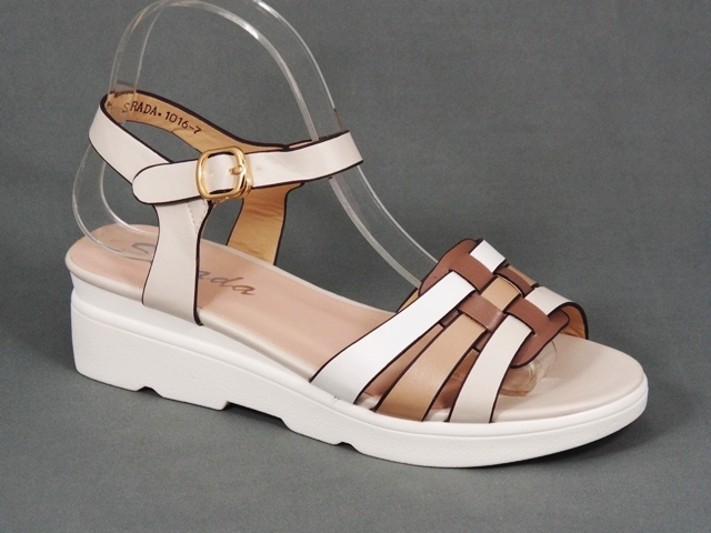 Sandale dama bej toc 4,5 cm Floryna