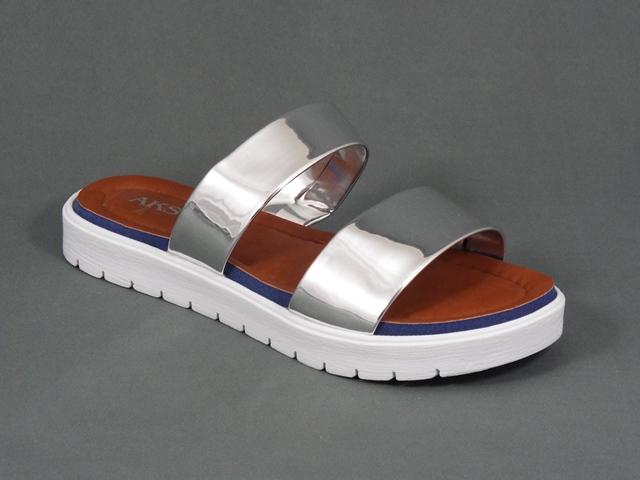Papuci dama argintii Yana