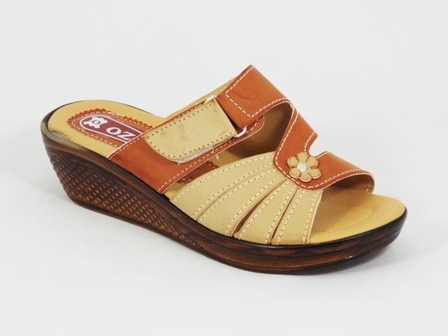 Papuci dama bej maro floare Lolla