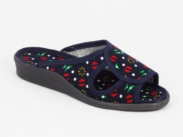Papuci dama albastri 3 Lenna
